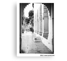 The  portico Canvas Print
