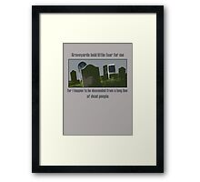 Words of Wisdom Framed Print