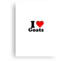 I love goats Canvas Print