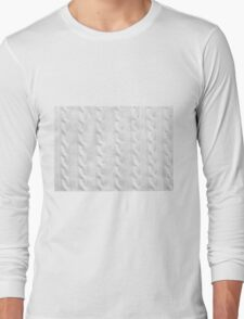 Cable Knit Pattern Long Sleeve T-Shirt