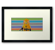 Bricking it....... Framed Print