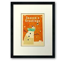 Snowman 4 Framed Print