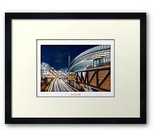 HDR Steel Highway  Framed Print