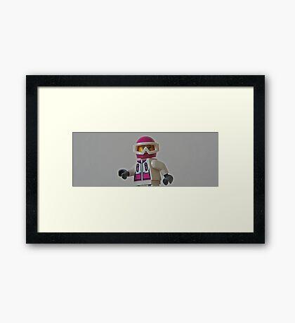 Brickboarder Framed Print