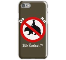 Don't do it!!!!...its bad for your health iPhone Case/Skin