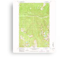 USGS Topo Map Washington State WA Scenic 243595 1965 24000 Canvas Print