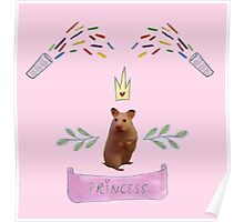 Princess Hamster Banner Mouse Poster