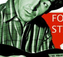 Woody Guthrie, Folk Star (Sm) Sticker