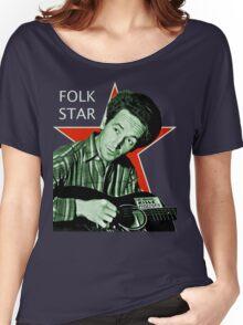 Woody Guthrie, Folk Star (Lg) Women's Relaxed Fit T-Shirt