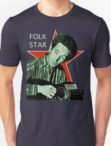 Woody Guthrie, Folk Star (Lg) T-Shirt
