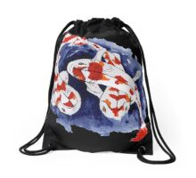Intertwining Koi Drawstring Bag