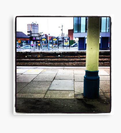 Waiting for a train Canvas Print
