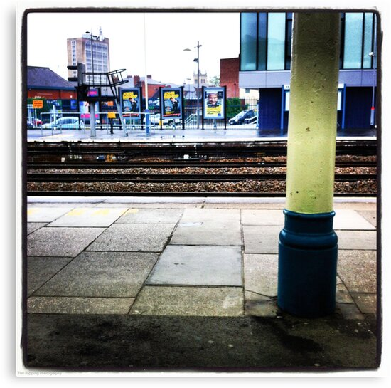 Waiting for a train by Tim Topping