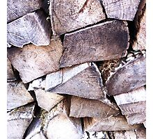 Wood Pile Photographic Print