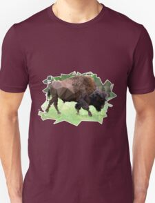 Colorful Bison Mosaic Unisex T-Shirt