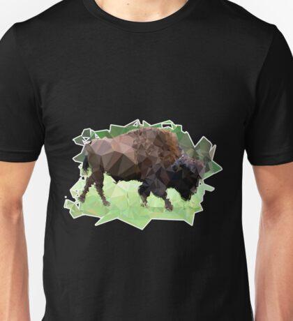 Colorful Bison Mosaic Unisex T-Shirt