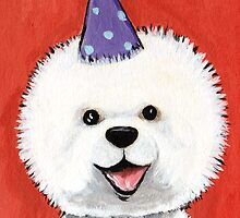 Party Bichon Frise by Lisa Marie Robinson