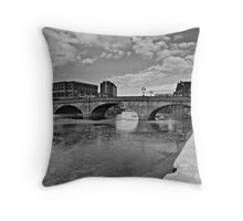 When two banks became one. Throw Pillow