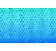 Blue Futuristic Hexagon Photographic Print