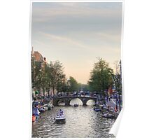 A calm day in Amsterdam Poster