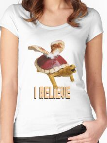 I Believe: Real Koopa Taxidermy Women's Fitted Scoop T-Shirt