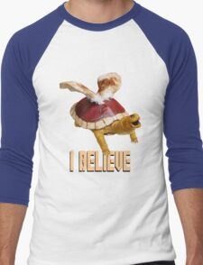 I Believe: Real Koopa Taxidermy Men's Baseball ¾ T-Shirt