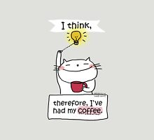 I think, therefore, I've had my coffee / Cat doodle Unisex T-Shirt