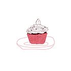 Red Velvet Vegan Cupcake iPhone/iPod Case by cmIllustration