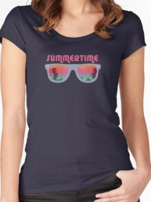 Summertime - Sunglasses Women's Fitted Scoop T-Shirt