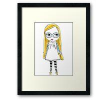 Blythe Doll cute toy art illustration Framed Print