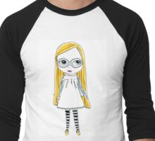 Blythe Doll cute toy art illustration Men's Baseball ¾ T-Shirt