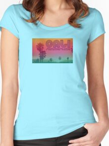 California Summertime Women's Fitted Scoop T-Shirt