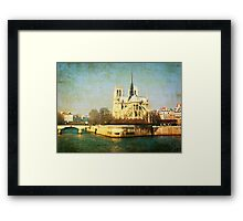 old-fashioned style paris france Framed Print