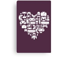 Controller Lover (White on Purple) Canvas Print