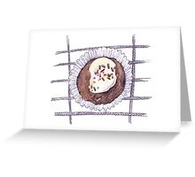Chocolate Overload Cupcake  Greeting Card