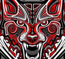 Wolf Tattoo Style Haida Art Sticker