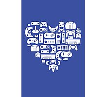 Controller Love (White on Blue) Photographic Print
