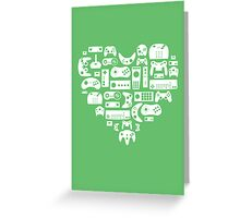 Controller Love (White on Green) Greeting Card