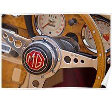 Behind the Wheel - An MGA Sports Car Poster