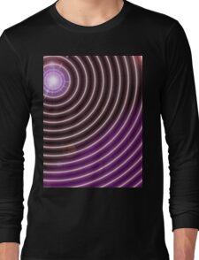 Purple Rays Long Sleeve T-Shirt