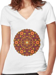 Mandala 37 T-Shirts & Hoodies Women's Fitted V-Neck T-Shirt