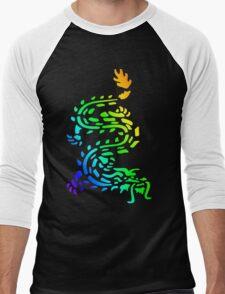 Oriental Dragon Colourful Design Men's Baseball ¾ T-Shirt