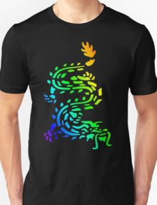 Oriental Dragon Colourful Design Unisex T-Shirt