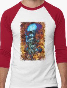 Skull and Flowers Men's Baseball ¾ T-Shirt