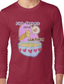 Fish fingers and custard Long Sleeve T-Shirt