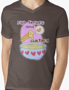 Fish fingers and custard Mens V-Neck T-Shirt