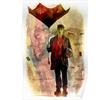 Technicolor Rain ~ Buster Keaton Poster