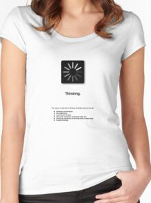 Thinking (with text) Women's Fitted Scoop T-Shirt