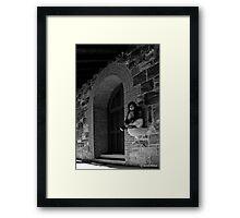 Self Portrait- Abandoned Church, NY Framed Print