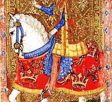 Medieval Nobleman on horseback by Vintage Designs